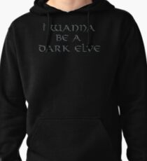 Dark Elve Text Only Pullover Hoodie