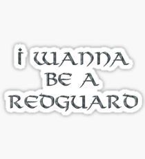 Redguard Text Only Sticker