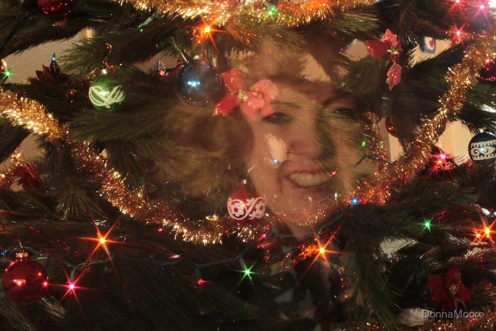 Me in the Christmas tree..... by DonnaMoore