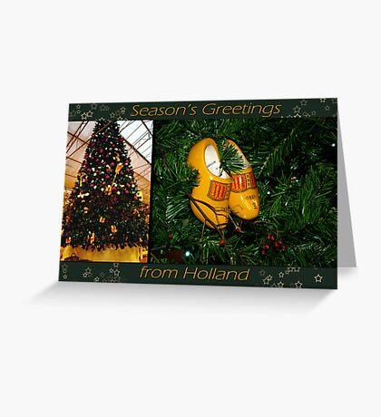 WoodenShoes Xmas Tree - card Greeting Card