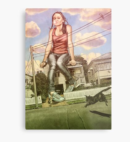 Too Big For This Town Metal Print