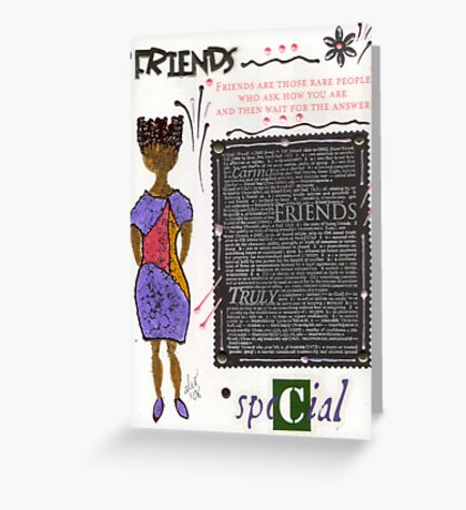 Friends are RARE Greeting Card