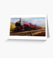 Stanier pacific on Shap Greeting Card