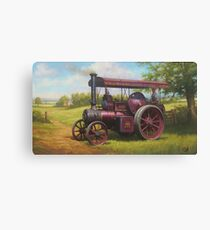 Old traction engine Canvas Print