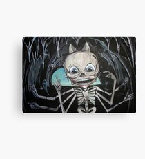 Mr. Bones or the Skeleton in the Cave Canvas Print