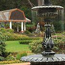 Peaceful Garden by Laddie Halupa