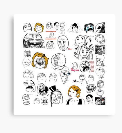 Meme Collage Canvas Print