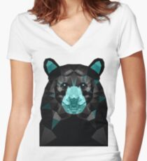 GTA V Bear Women's Fitted V-Neck T-Shirt