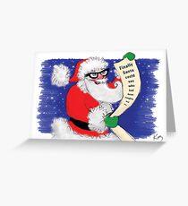 Kazart Santa Geek Christmas Card Greeting Card