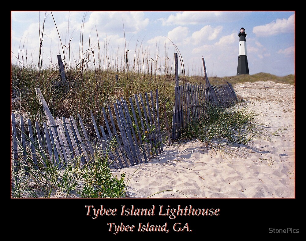 Tybee Island Lighthouse and Beach II by StonePics