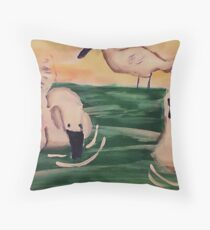 ( revised) Can I join you? watercolor Throw Pillow