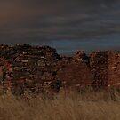 Burra ruins at night by Gavin Kerslake