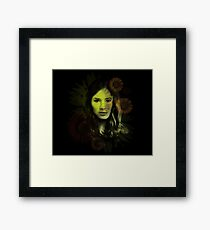 Splatter Amy Pond Framed Print