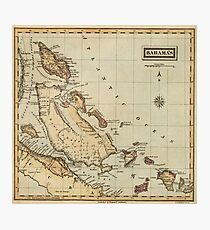 Vintage Map of The Bahamas (1823) Photographic Print