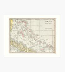 Vintage Map of The Bahamas (1901) Art Print