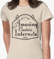 The Amazing Electric Internets Women's Fitted T-Shirt