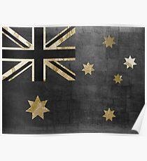 Australian Flag Fashion Glamour  Poster