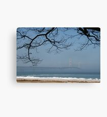 Foggy Mackinac Bridge Canvas Print