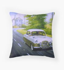 Ford Zephyr near Marldon Road tollhouse. Throw Pillow