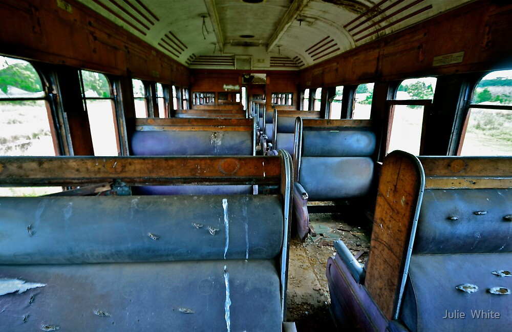 Abandoned Carriage. by Julie  White