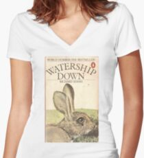 Watership Women's Fitted V-Neck T-Shirt