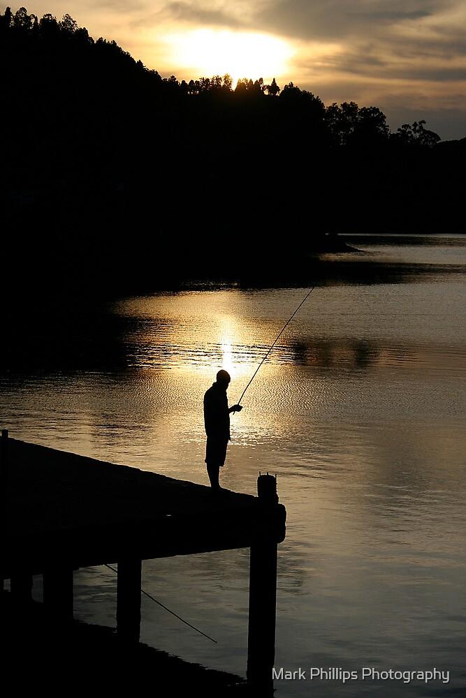 Sunset Fisherman, Lake Kivu by Mark Phillips Photography