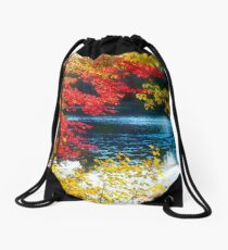 The Glory of a New England Autumn Drawstring Bag