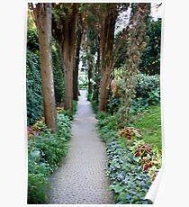 Garden Walkway, Anacapri Poster