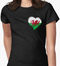 Welsh Flag - Wales - Heart T-Shirt