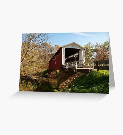 The Hills Covered Bridge Greeting Card