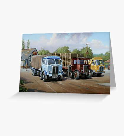 Max's transport cafe. Greeting Card