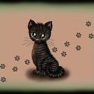 dunkle Haus Tigerkatze von Pezi-Creation
