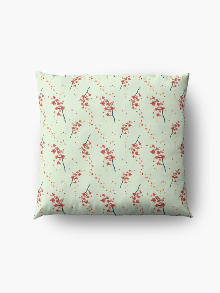 Alternate view of Branches with flowers Floor Pillow