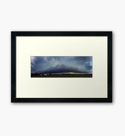 Severe Storm - December 12 2011 Framed Print
