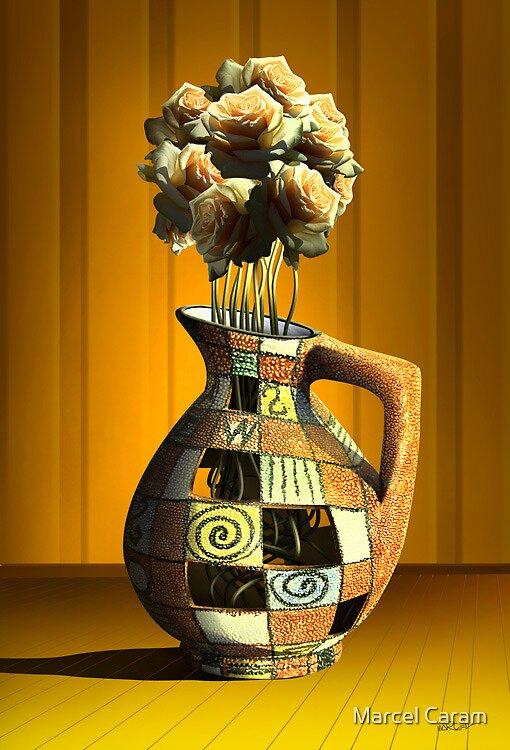 Vaso de Rosas. by Marcel Caram