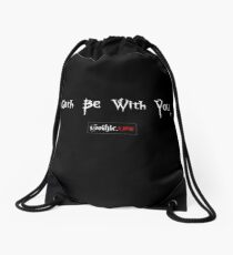 Goth Be With You Drawstring Bag