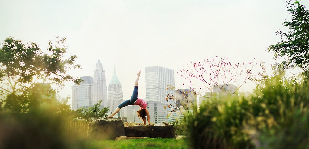 Yoga asana in the Park, New York by Wari Om  Yoga Photography