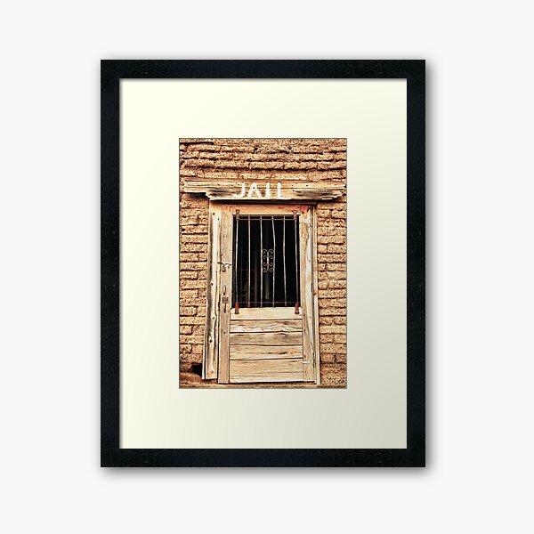 Western Jail House Door Framed Art Print