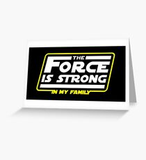Strong In My Family Greeting Card