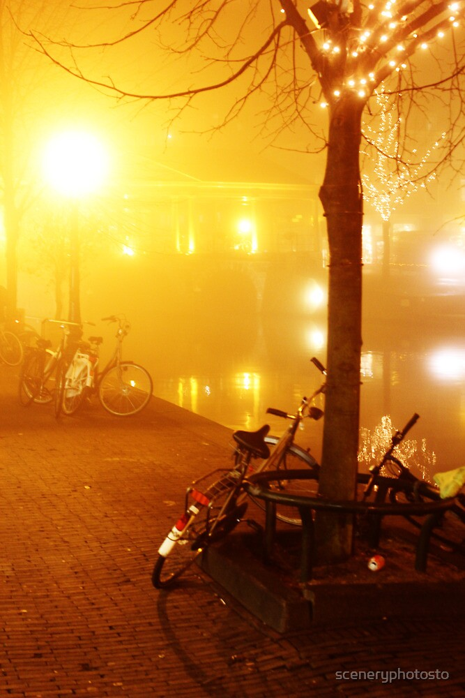 Bike Night Light Leiden by sceneryphotosto