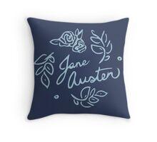 Jane Austen Floral Print Throw Pillow