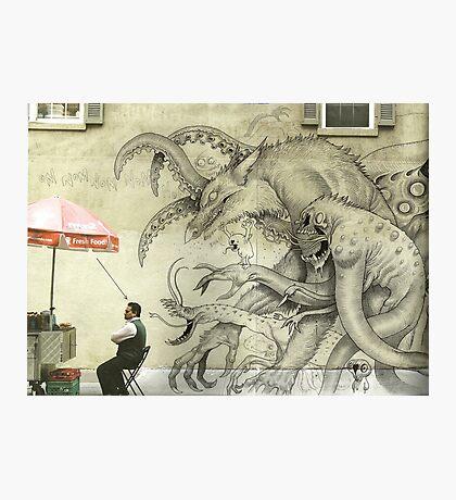 Monster Graffiti Photographic Print