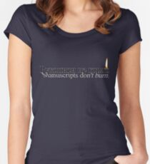 Manuscripts Don't Burn (Master & Margarita) Women's Fitted Scoop T-Shirt