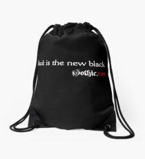 Black is the new black. Gothic.Life Drawstring Bag