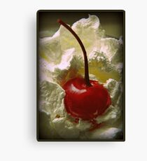 Whipped Cherry Canvas Print