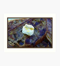 French Toast with Butter Art Print