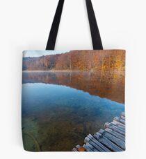 Looking at the lake Tote Bag