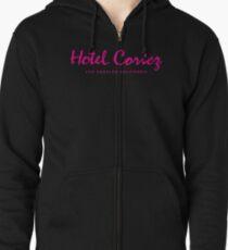 HOTEL CORTEZ Los Angeles California - Neo Noir Zipped Hoodie