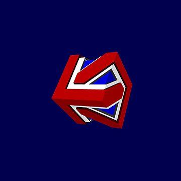 Union Jack Cube II by glyphobet