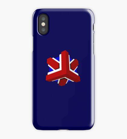 Union Jack Cube I iPhone Case/Skin